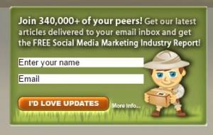 social media examiner blog sign up call to actiion