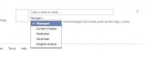 change admin settings in facebook