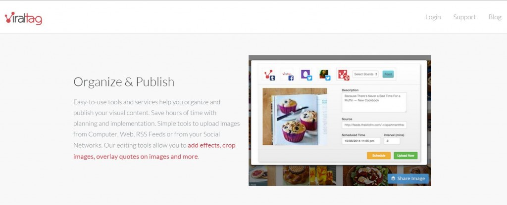 viraltag for scheduling pinterest images