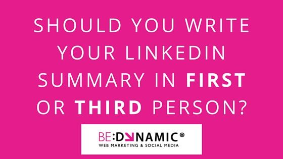 write your LinkedIn summary