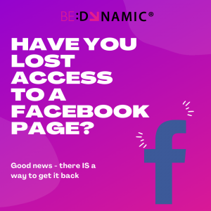 Get back facebook page admin access
